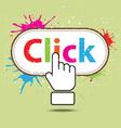 hand icon click design vector image