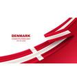 happy denmark constitution day vector image vector image