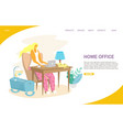 home office website landing page design vector image