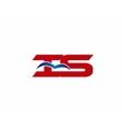 iS company logo vector image vector image