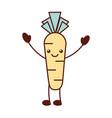 kawaii carrot vegetable fresh food cartoon vector image vector image