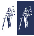 lady justice statue vector image vector image
