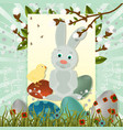layout of easter greeting card 12 vector image