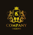 luxury letter k logo vector image vector image