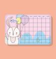 may calendar with rabbit cute animal vector image