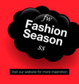 modern promotion web banner fashion season vector image vector image