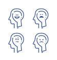 mood swing bipolar disorder manic depression vector image vector image