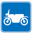 Motorcycle button vector image vector image