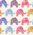 Pattern with colorful elephant vector image vector image