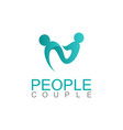 people couple abstract logo vector image
