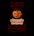 poster concept design for halloween banner vector image vector image