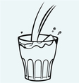 Pouring a glass of milk vector image vector image