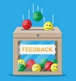 rating box reviews smiles vector image vector image
