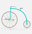 retro bicycle with large front wheel painted vector image