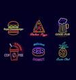royal cheeseburger and pizza vector image vector image