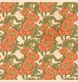 seamless pattern vintage decorative red poppies vector image vector image