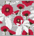 seamless patterns with gerbera flowers vector image vector image