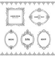 set collection of boredrs frames with sample text vector image vector image