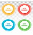 Set collection of four colorful banners frames