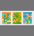 set geometric sumer backgrounds vector image vector image