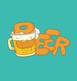 sketch pint tumbler of beer vector image vector image
