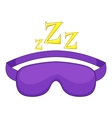 Sleeping mask icon cartoon style vector image vector image