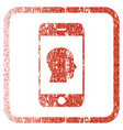 smartphone contact human portrait framed textured vector image vector image