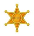Star sheriff iconcartoon icon