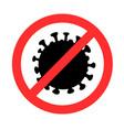stop-coronavirus sign silhouette vector image