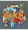 Summer doodles vector image vector image