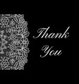 thank you card vector image vector image