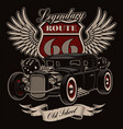 vintage american hot rod vector image