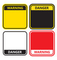 warning sign on a white background vector image vector image
