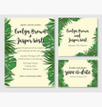 wedding invitation save date rsvp invite vector image vector image