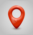 red map pin pointer modern design vector image
