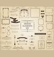 vintage design elements collection vector image