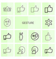 14 gesture icons vector image vector image