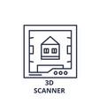 3d scanner line icon concept 3d scanner vector image vector image