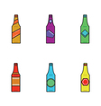 6 bottles of vector image vector image