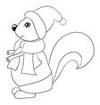 a children coloring bookpage a cute cartoon vector image vector image
