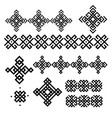 a set of black and white geometric designs signs vector image