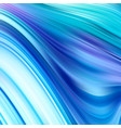 abstract color background blue wavy fluid shapes vector image vector image