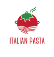 Abstract icon tomato with pasta vector image vector image