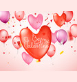 be my valentine happy valentines day greeting card vector image vector image