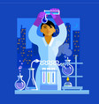 beautiful young asian woman scientist holding vector image vector image