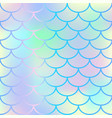 bright fish scale seamless pattern vector image
