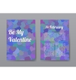Brochure Happy Valentines Day with Purple Hearts vector image vector image