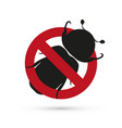 bug stop sign vector image