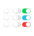 button switch toggle slider ui slide off or turn vector image vector image