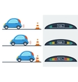 Car parktronic infographic - three positions vector image vector image